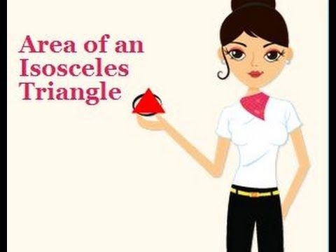 Finding the area of an isosceles triangle.