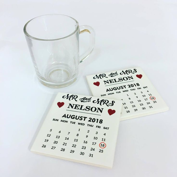 Personalised Wedding Ceramic Tile Coasters – Save The Date Calendars Favours  £4.99 White Ceramic Tile Coaster, personalised for wedding favours or gifts. Perfect for that memorable day.  Printed at Uveeka's HQ Full colour high quality printing Full customisation available using Custom My Design Scratch Resistant, Shower Proof Size – 100 x 100mm High Quality Ceramic Used Gloss Finish