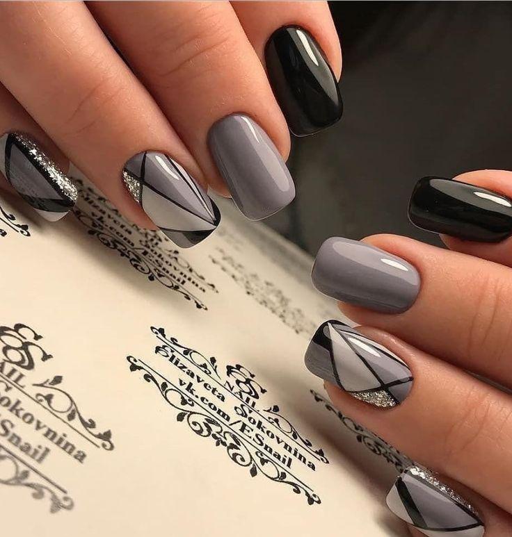 33+ Natürliche Acryl Black Almond & Square Nail Designs für kurze Nägel – Seite 25 von 33 – Nägel
