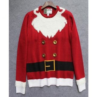 red pullover ugly christmas sweater for women crew neck funny christmas jumpers