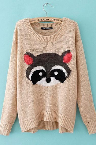 Raccoon's on a sweater