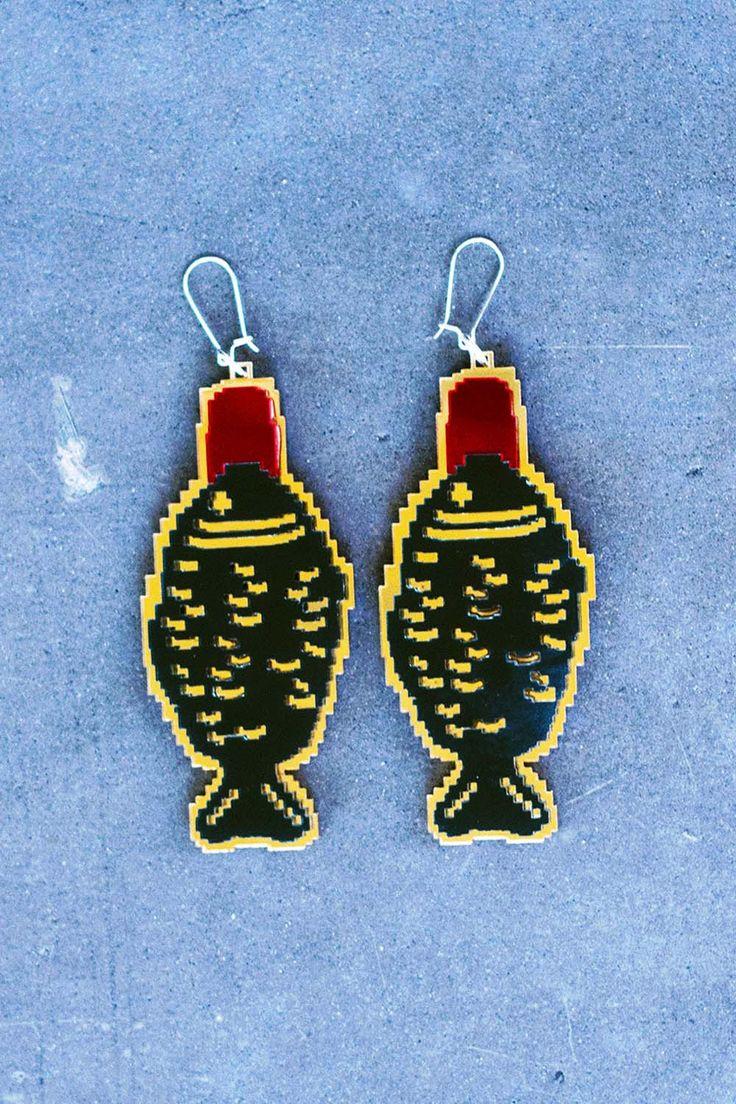 Soy Fish Earrings
