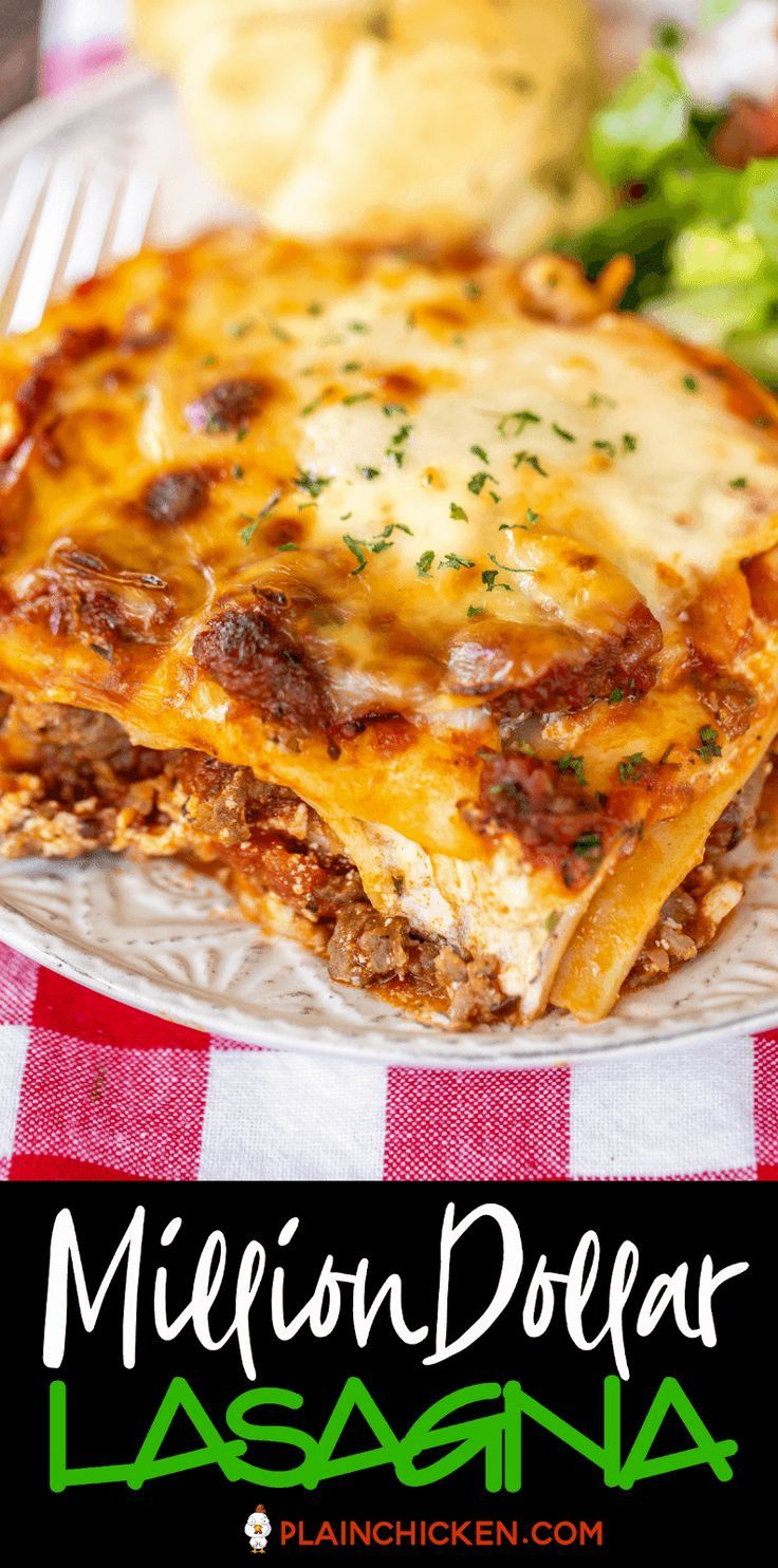 Million Dollar Lasagna Classic Lasagna Recipe Easy Lasagna Recipe Beef Lasagna Recipe