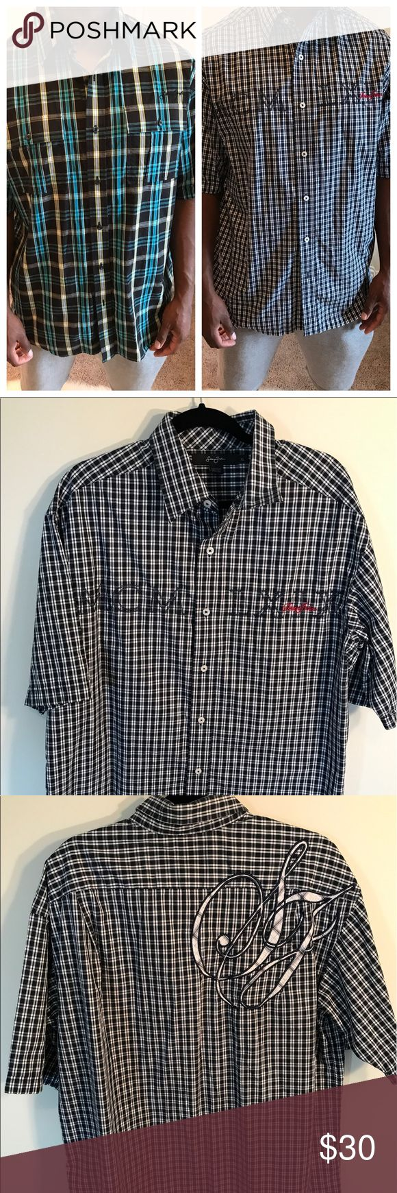 Sean Jean Button Down Sean Jean Button Down. Short Sleeves. Great Condition. Size XL. Sean John Shirts Casual Button Down Shirts