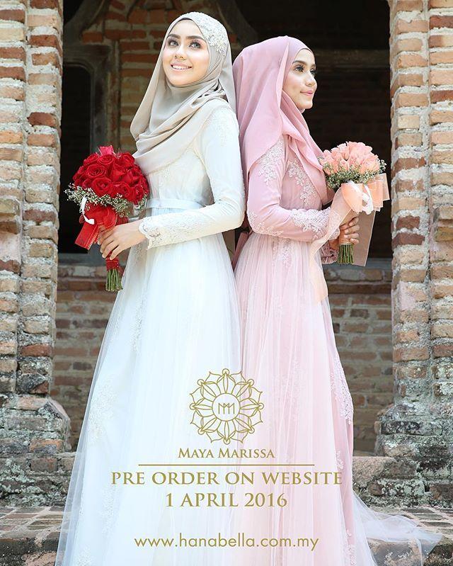 "thank you very muchh #hanabellalovers semua yang sukakan dress baru kami and the official name for the dress is ""YASMEEN DRESS"" xsabarnya sayaaa takk kuuuaadd bile nk release ni, kann?? . Insyaallah oficially release pada 1 April ni. . Preorder 4 weeks only at :  www.hanabella.com.my  #lace #dresses #wedding #event #lace #couture #hautecouture #life #model #hijabista #tunang #longdress #beautiful #inspiration #inspired #malaywedding"