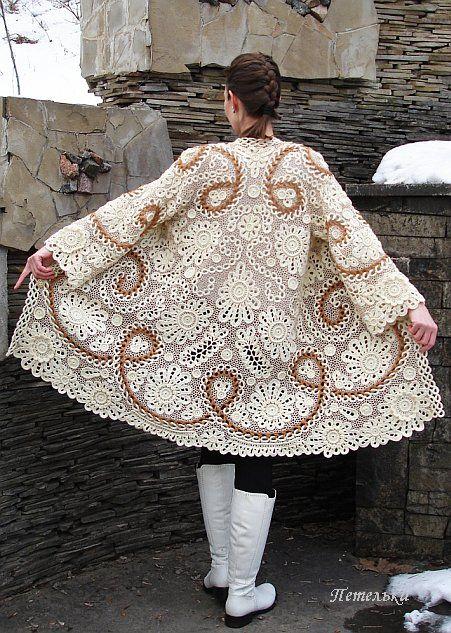 "Пальто ""Виктория"" I'm not sure if this is crochet or knit...but I love it"
