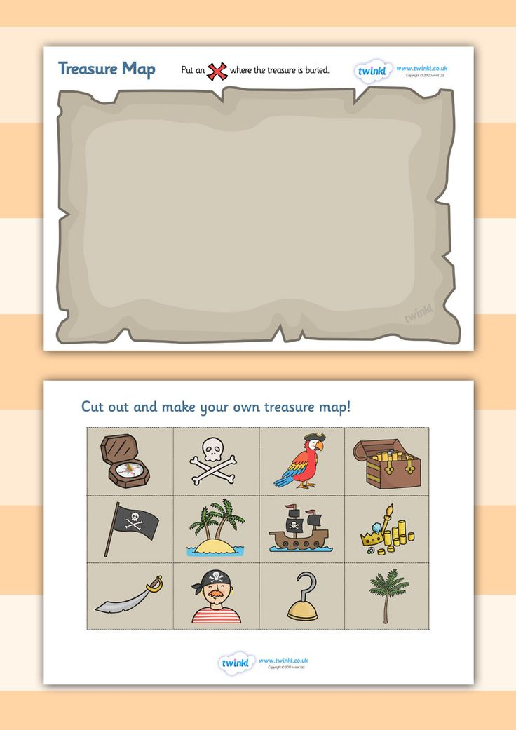 Twinkl Resources >> Treasure Map Activity >> Printable resources for Primary, EYFS, KS1 and SEN. Thousands of classroom displays and teaching aids! Pirates, Treasure, Maps, Topics, Activities