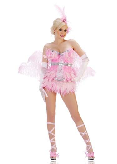 Get this costume FREE - FLAMINGO SHOWGIRL COSTUME    http://www.eyekandeelingeriecanada.com/flamingo_showgirl_costume.htm