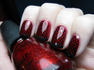 20 Gorgeous Red And Black Nails Designs