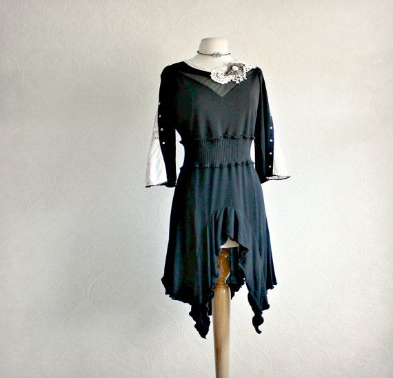 Women's Long Tunic Upcycled Clothes by BrokenGhostClothing on Etsy,