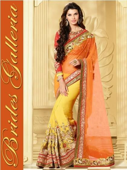Bridal Dresses Indian Designer Saree Design 2014-15 By Brides Galleria