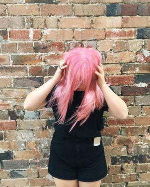 #pinkhairdontcare #evohair #haircareaustralia #pinkhair #bleachblonde #funhair #precinct75