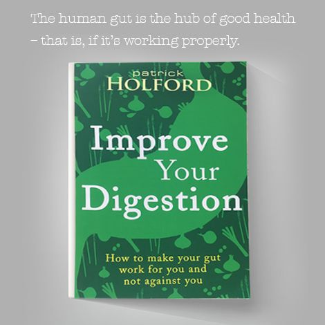 "Patrick Holford launches his new book ""Improve Your Digestion"" – get your copy from a leading bookstore near you!"