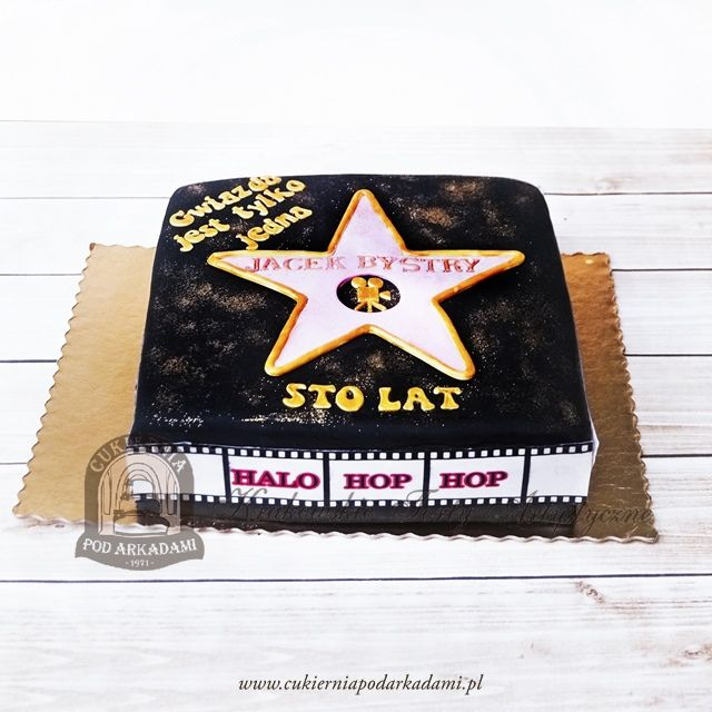 208ba Tort Aleja Slaw Z Hollywood Gwiazda Filmowa Hollywood Walk Of Fame Cake Birthday Cake Desserts Birthday