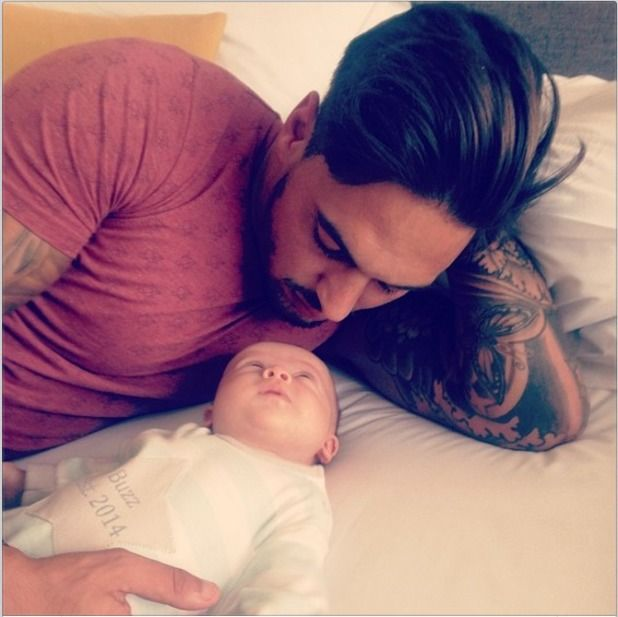 Mario Falcone shares a photo with his nephew Buzz