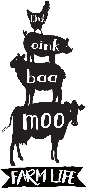 Svg Download Stacked Farm Animals Sign Farmhouse Decor Farm Animals Stain White Wood Sign S Baby Nutztiere Nutztiere