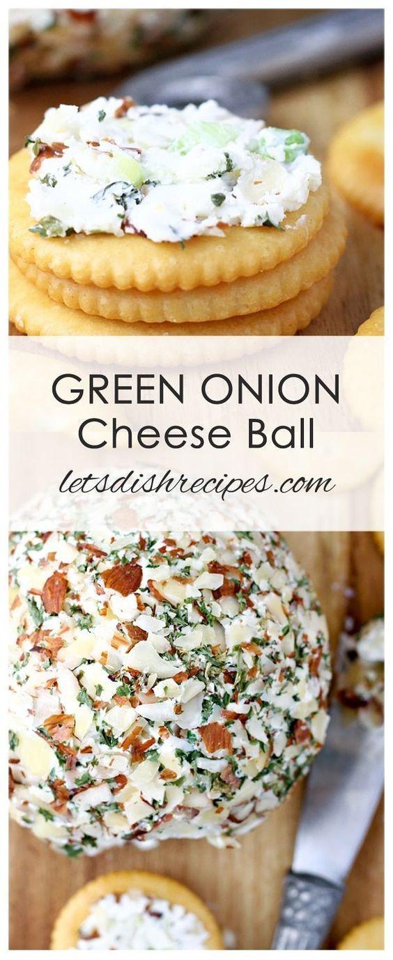 Green Onion Cheese Ball Rezept: Ein Urlaub Familienliebling, dieser Käseball Kamm …