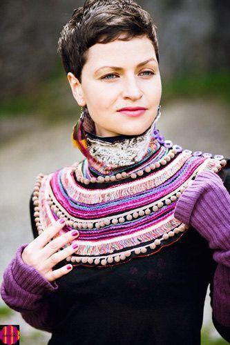 Multicolor ethnic fabric colarwomens by baboshkababoshka on Etsy, $120.00 www.baboshka.pl https://www.facebook.com/pages/Baboshka/170710979659858?bookmark_t=page