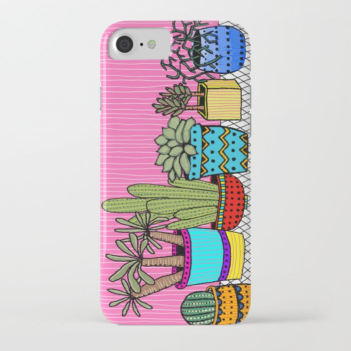 Buy Cactus garden iPhone Case by intuitivewhimsy. Worldwide shipping available at Society6.com. Just one of millions of high quality products available.