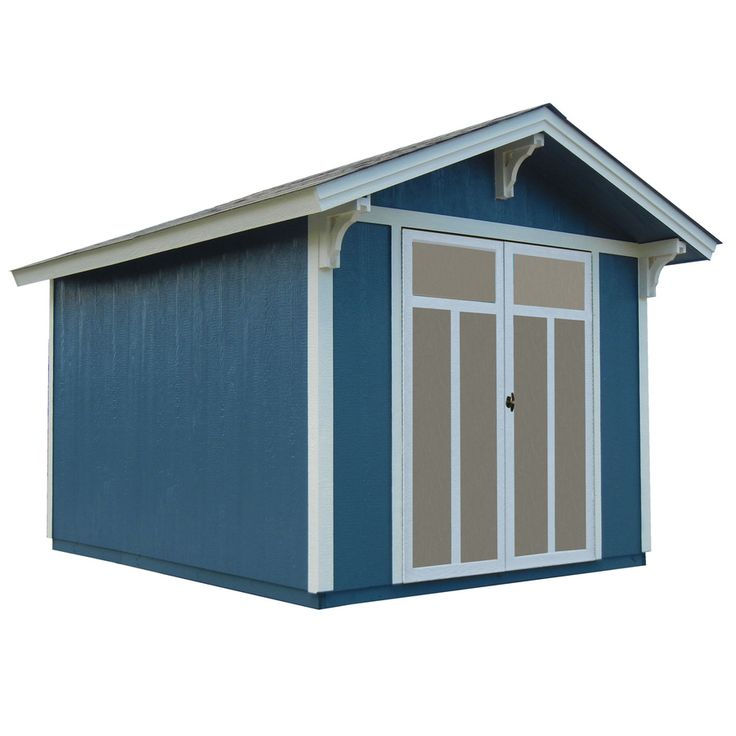 Heartland Prestwick Gable Engineered Wood Storage Shed (Common: 8 Ft X 10