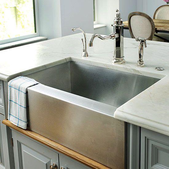 White Porcelain Farmhouse Kitchen Sink : Farmhouse Sink Ideas