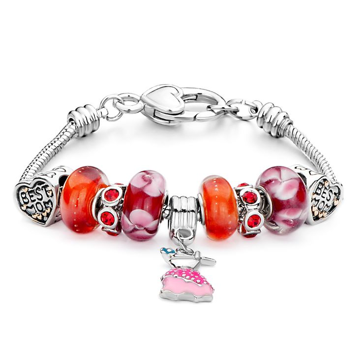 19 cm Blue Murano and CZ beads Mum Friend gift bracelets with gift box will fit other Pandora and Biagi charms 019 81r3Y9q