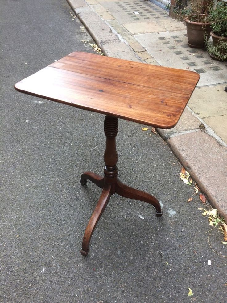 Victorian Mahogany Rectangular Tripod Occasional Table