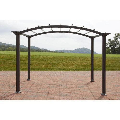 Outdoor pergola steel 8 x 10 patio gazebo garden canopy for Metal frame pergola designs