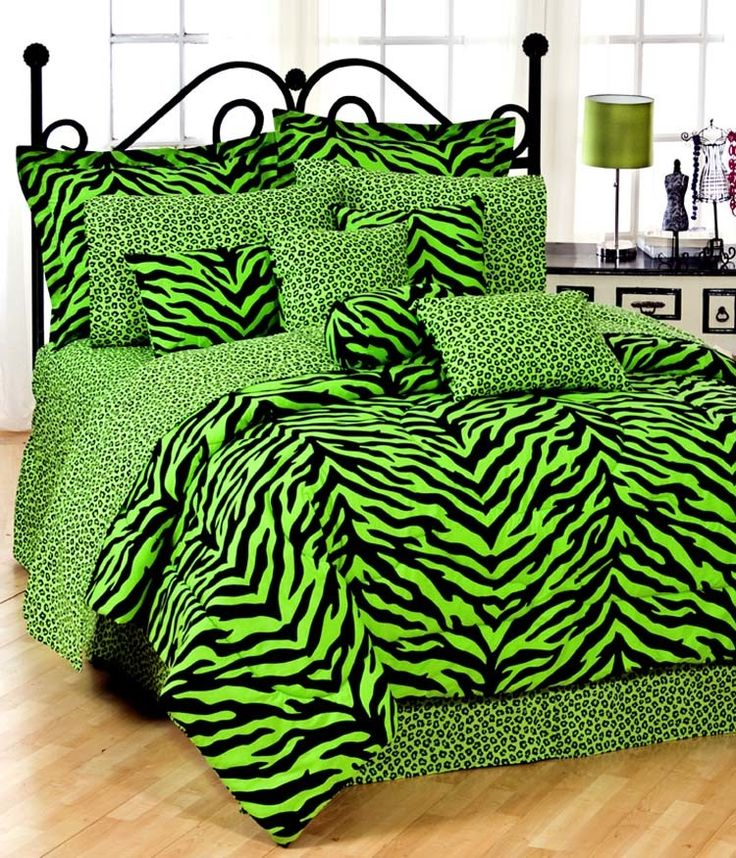 Lime Zebra Bedding Collection | Wayfair