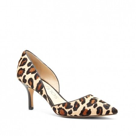 Best selling d'Orsay mid heel with a pointed toe. The epitome of office-to-out.      Material: Haircalf, Leather