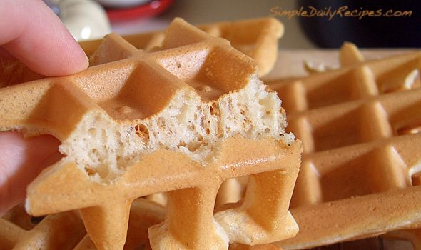 My new go-to Belgian waffle recipe. Crispy, light, delicious and soaks up just the right amount of pure Vermont maple syrup.