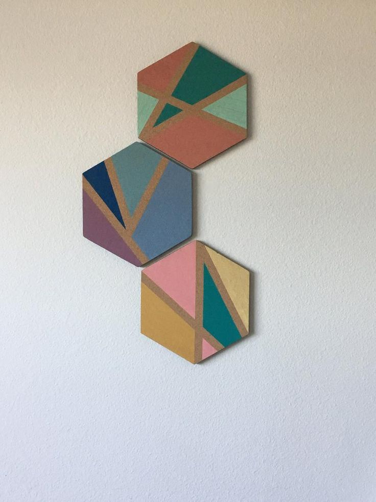 hexagon geometric hand painted cork boards wall decor on inspiring workspace with a cork wall creating a custom cork board for your home id=32242