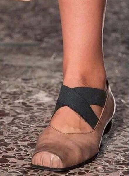 >> Click to Buy << Ballet Flats for women square toe apricot black white shoes slip-on ladies fashion runway shoes leisure footwear plus size 43 #Affiliate