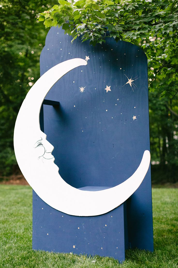 #Moon #PhotoBooth -- We may have to have a contest for most creative Photo Booth Alternatives! See this wedding on http://www.StyleMePretty.com/maryland-weddings/annapolis/2014/01/15/annapolis-garden-wedding/ Theresa Choi Photography