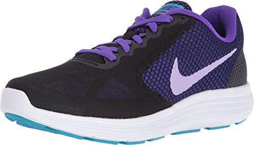 Nike Womens Revolution 3 Running Shoe 105 BM US BlackUrban LilacFierce Purple *** Read more reviews of the product by visiting the link on the image.