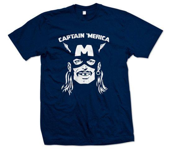 CAPTAIN MERICA T-Shirt America Redneck Shirt - We love you! - Funny ( S - 5XL )