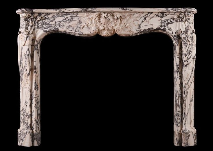 A beautiful Louis XV Breche Violette antique marbl…