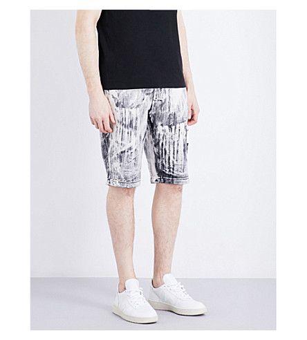 STONE ISLAND Hand Corrosion Relaxed-Fit Cotton Shorts. #stoneisland #cloth #pants & shorts