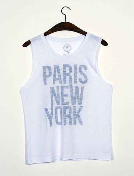 Tee graphic Paris New York / Regata cavada com estampa