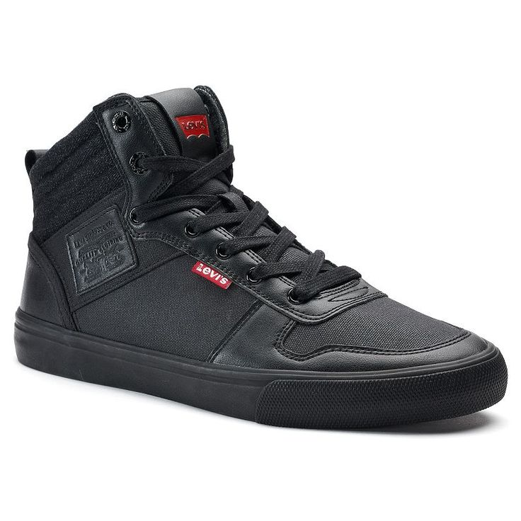 Levi's® Wilshire Men's High Top Sneakers, Size: 12, Grey (Charcoal)