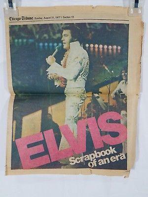 Vintage Elvis Presley Chicago Tribune newspaper article