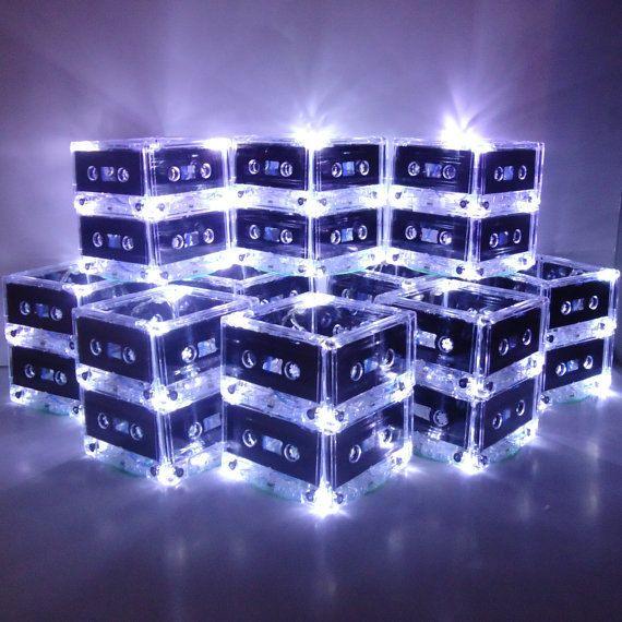 Unique Event Centerpieces Music Theme Lighted Cassette