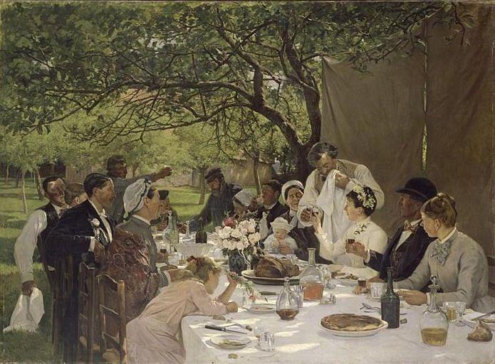 Albert Auguste Fourie, Un repas de noces a Yport, 19세기 말. 루앙 미술관