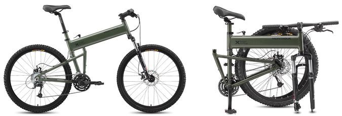 The Paratroper - The Rugged Tactical Folding Mountain Bike by Montague http://coolpile.com/rides-magazine/the-paratroper-the-rugged-tactical-folding-mountain-bike-by-montague/ via CoolPile.com - $899 - Bicycle, Cool, Military, Mountain Biking
