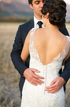 View Lisa van den Worm's special moments in her Ilse Roux wedding dress creation :: Ilse Roux Bridal Wear