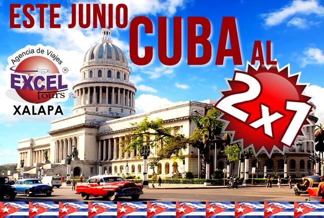 Este Junio los viajes a Cuba los tenemos al 2×1, Viajan 2 y paga solamente uno! Incluye: vuelo redondo con Cubana de Aviación, 5 días y 4 noches de Hospedaje en hoteles seleccionados, todos los traslados, impuestos, visa de turista, segurosmédicosy la atención de nuestros representantes en la isla.