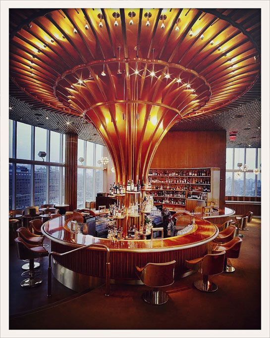 Boom Boom Room | Standard Hotel NYC. I'm liking the torch-esque look of that column in the center of the bar.