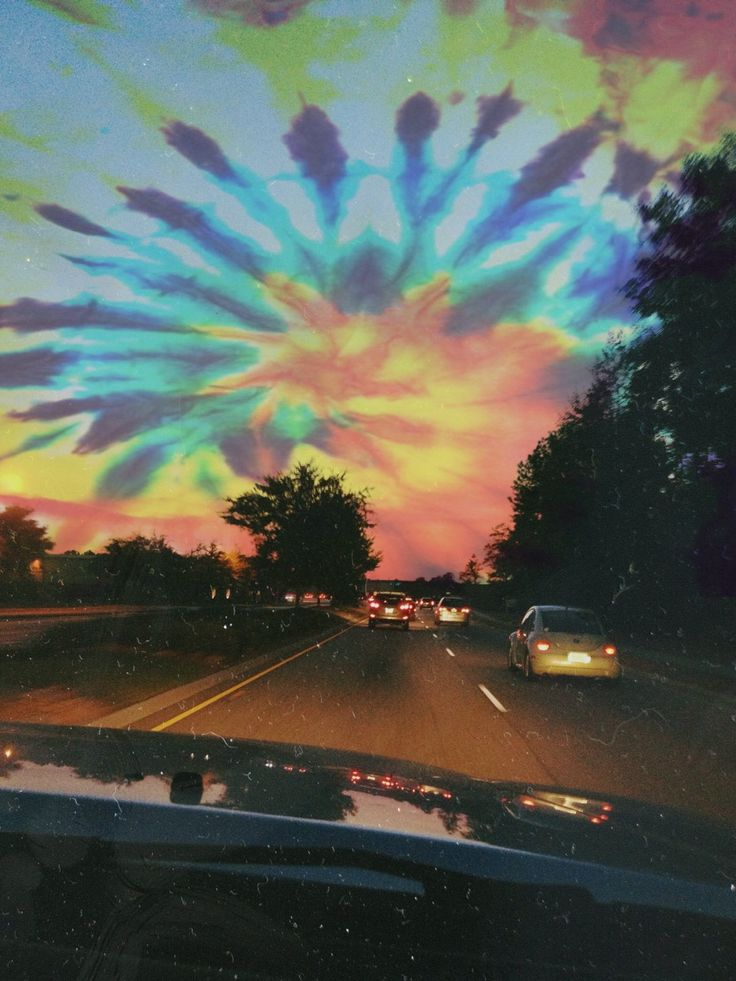 Tie dye sky. / photography / colorful / trippy / tumblr / hippie / good vibes