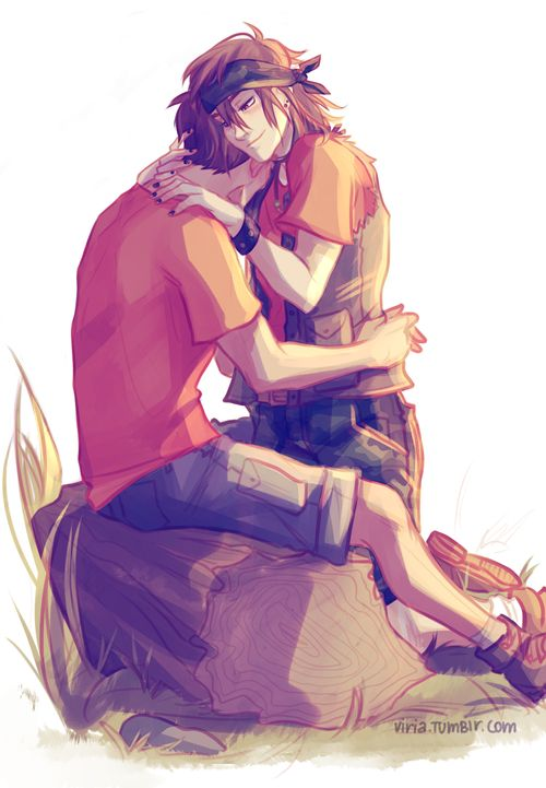 When the world gets too heavy, put it on my back, I'll be your levy  for some reason my feelings are exploding and I cannot help it. Clarisse and Chris for their ship week- Art by Viria <3