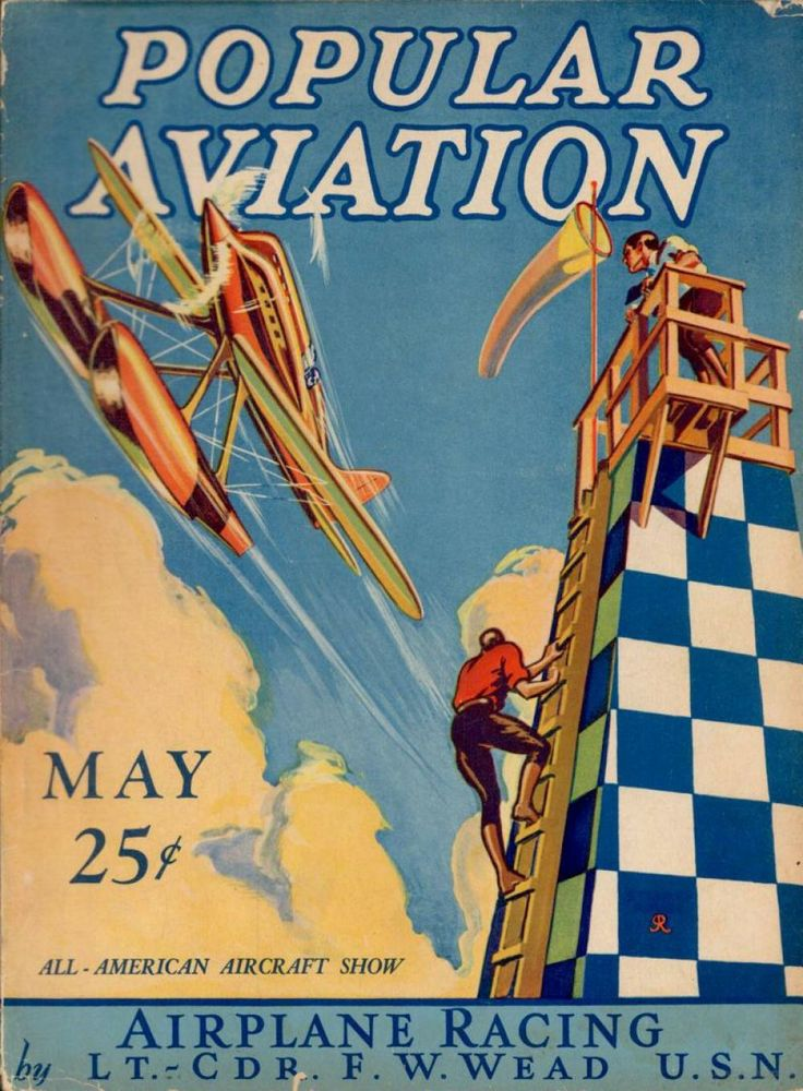 Flying Magazine's May 1928 Cover #vintage #aviation #flying